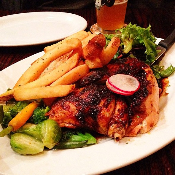 Roasted Jerk Chicken @ 21st Amendment Brewery & Restaurant