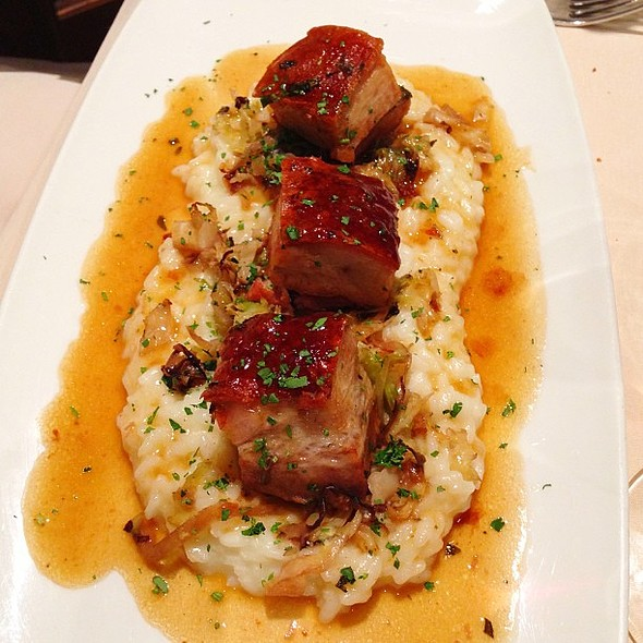 Parmesan Risotto with Roasted Pork Belly @ Donato Enoteca