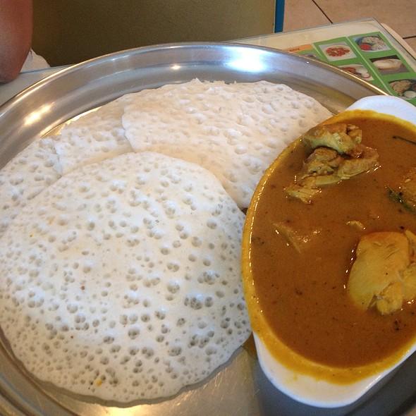 Kerala Special Chicken Curry W/ Appam - Mayura Restaurant, Culver City, CA