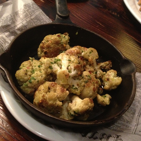 roasted cauliflower - Slice of Vegas, Las Vegas, NV