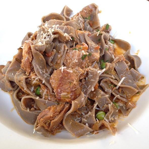 Chestnut Fettucini With Pork And Green Peas @ Osteria Coppa