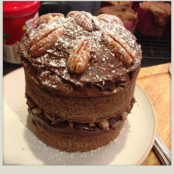 Chocolate Pecan Cake @ Chookys