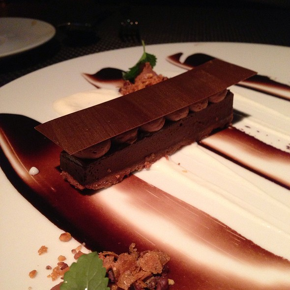 Dark Chocolate Praline Bar - Diva at the Met, Vancouver, BC