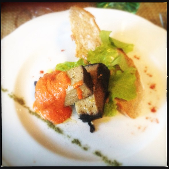 Eggplant Flan With Tomato Emulsio @ Ratanà