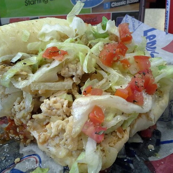 grilled chicken philly @ Lenny's Sub Shop