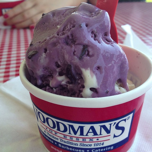 Raspberry Chocolate Chip Ice Cream @ Woodman's of Essex