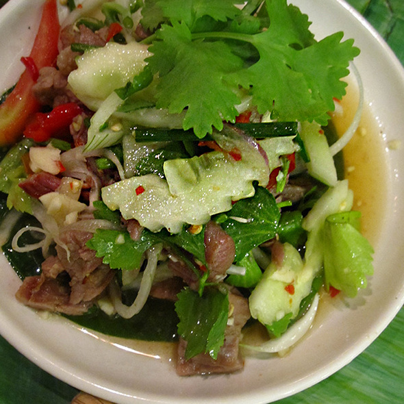 Spicy Grilled Beef Salad @ Kum Poon (Central Pinklao)