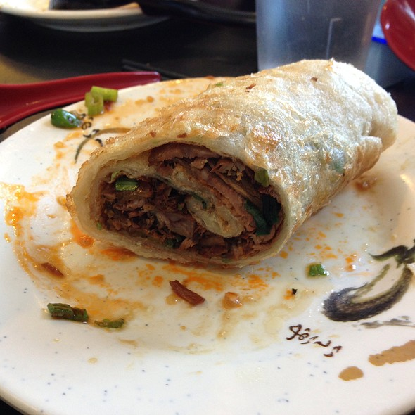 Sesame Pancake Wrapped Beef @ Liang's Kitchen