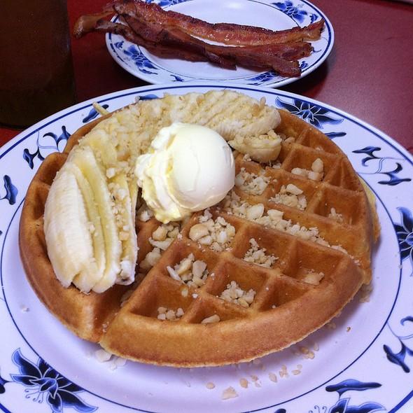 Banana Macademia Nut Waffle @ Forty Niner Restaurant