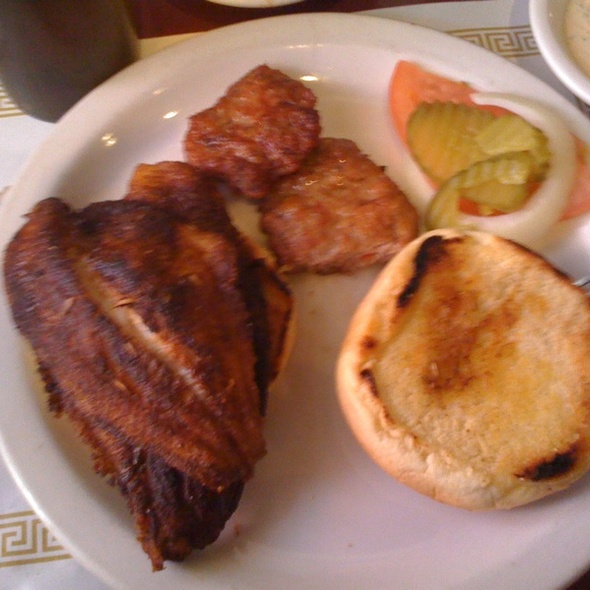 Blackened Catfish Sandwich @ Maxine's Chicken & Waffles