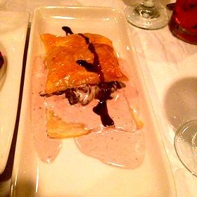 Escargot With Caramelized Onions, Port Boursin Cream Sauce