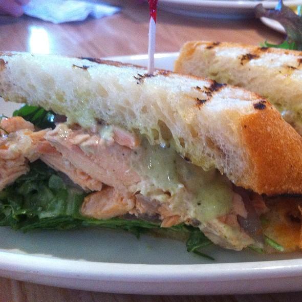 Smoked Salmon, Red Onion And Arugula Sandwich @ Breakaway Cafe