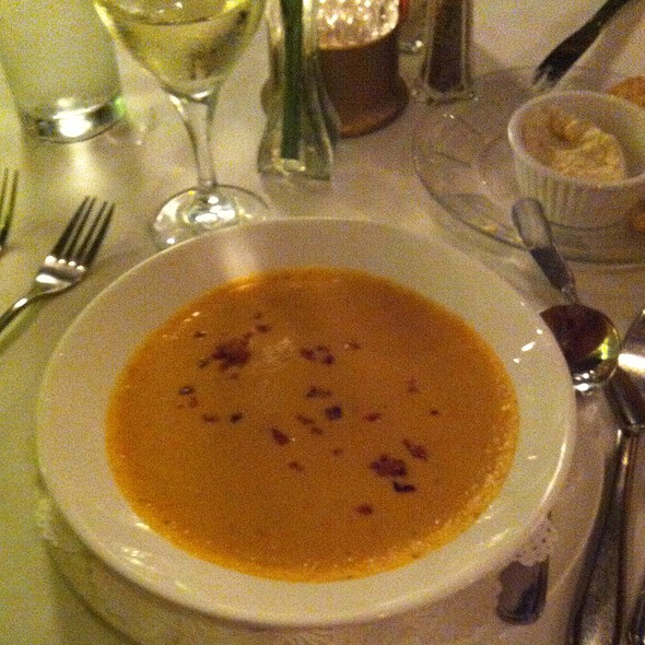 Sweet Potato Pimento Cheese Soup - The Parson's Table, Little River, SC