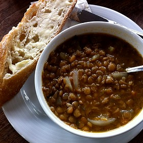 Red Wine Lentil Soup