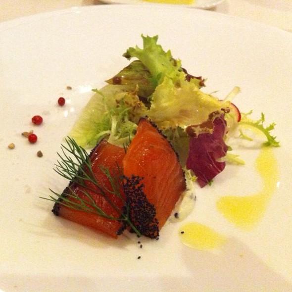 Marinated Salmon In Poppyseeds @ Cote D'Azure Brasserie