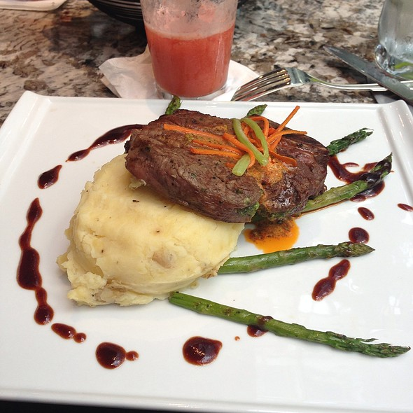 Fillet With Wasabi Mashed Potatoes - Basil's, Minneapolis, MN