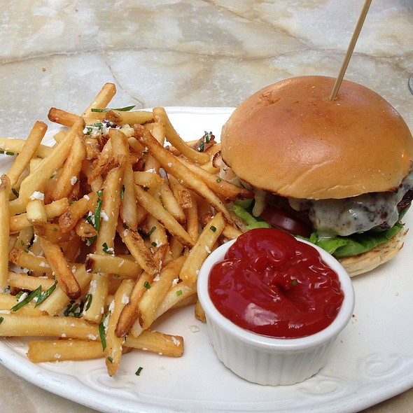 All American Cheeseburger With Truffle Fries - Grant's Restaurant and Bar, West Hartford, CT