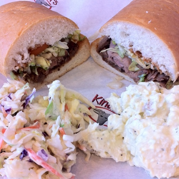 Famous Ball Tip Sandwich @ Kinders Deli Meats & BBQ
