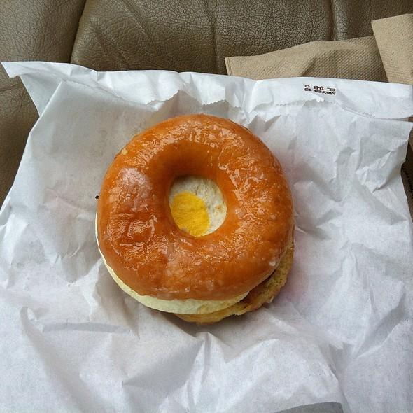 Glazed Donut Breakfast Sandwich @ Dunkin' Donuts