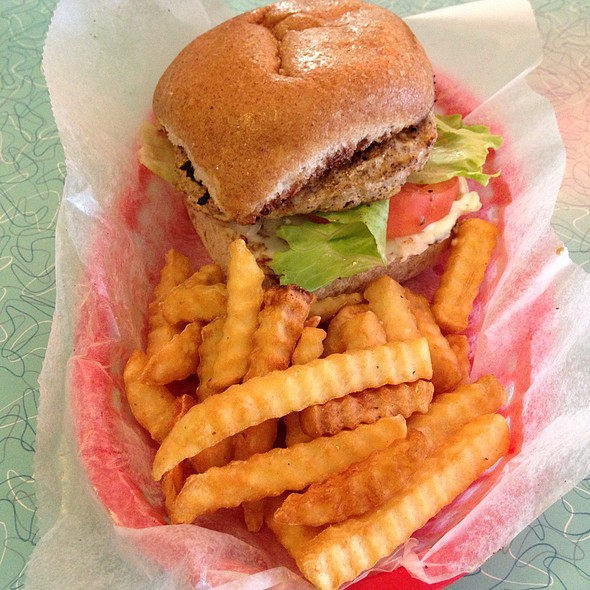 Turkey Burger & Fries @ Brent's Drugs