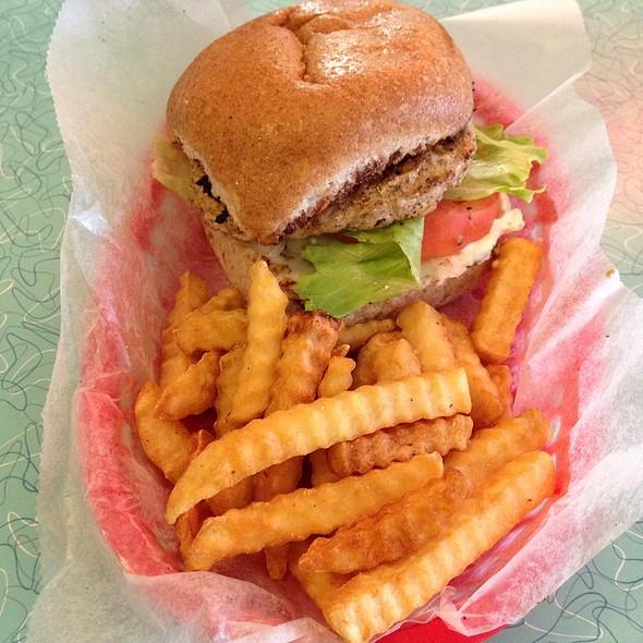 Turkey Burger & Fries @ Brent's Drugs