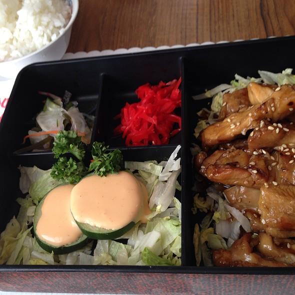 Japanese Lunch With Teriyaki Chicken @ Hanamaulu Cafe