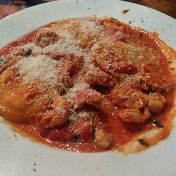 Cheese and Spinach Ravioli with Tomato @ Il Postino Restaurant