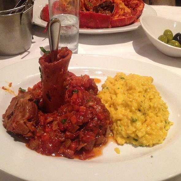 Osso Bucco With Safron Risotto - Cafe Fiorello, New York, NY