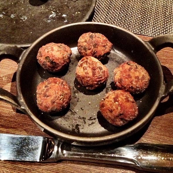 Portobello Mushroom And Roasted Garlic Fritters - Jean Georges Steakhouse - Aria, Las Vegas, NV