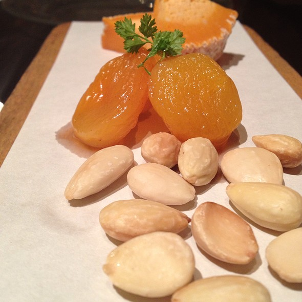 Cheese With Muscatel Soaked Apricots And Almonds