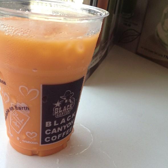 Thai Iced Tea With Milk @ Black Canyon Coffee