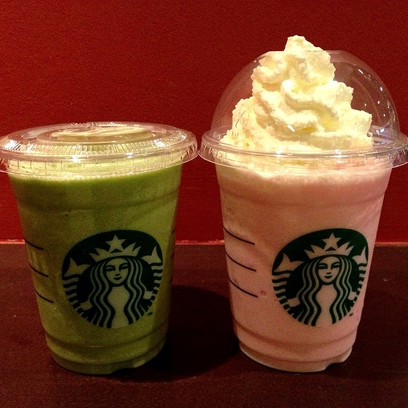 Green Tea And Raspberry Passion Frappuccino @ Starbucks Coffee