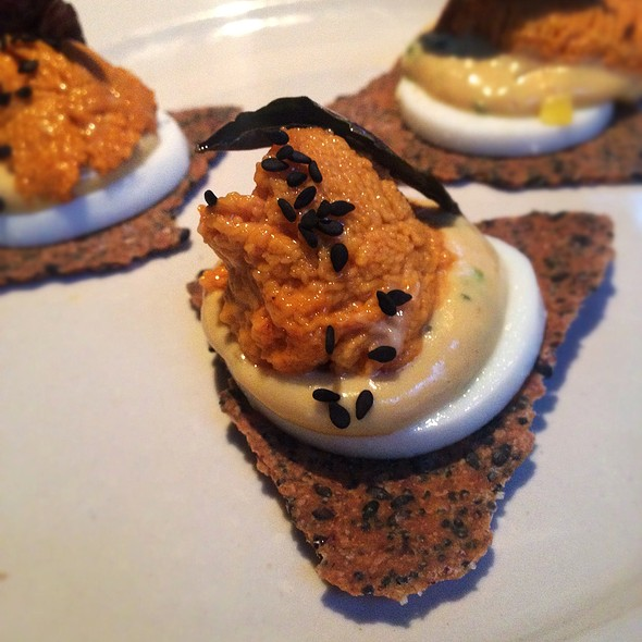 Sea Urchin Deviled Eggs