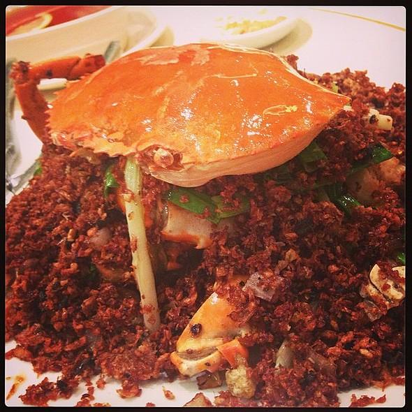 Crab Hong Kong Harbor style @ 越華會海鮮小館