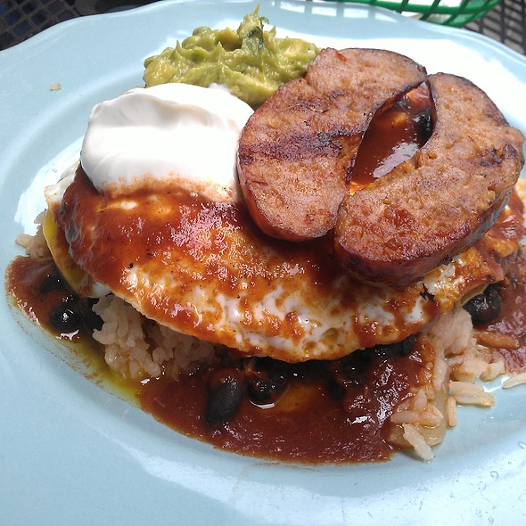 Huevos rancheros @ Papacitos Mexican Street Food Brooklyn