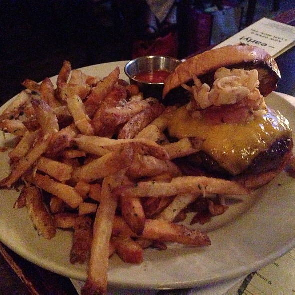 Bottineau Burger- .5Lb Of Grass Fed Beef, Pork Belly, Smoked Gouda, Carmelized Onions And Mustard Aioli