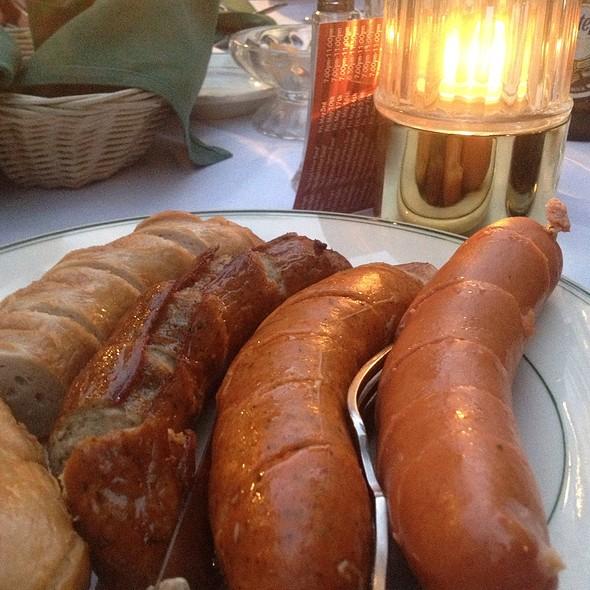 Sausage Combination Plate - Teske's Germania Restaurant, San Jose, CA