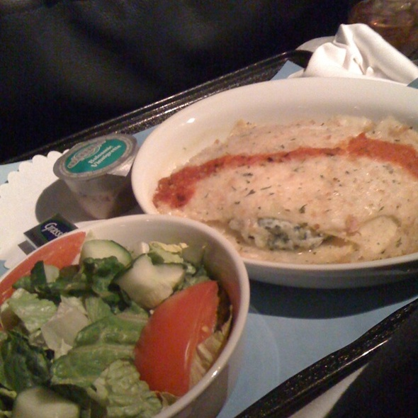 Spinach And Cheese Lasagna @ United Air Lines Inc