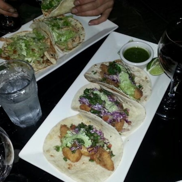 Chicken and Fish Tacos @ Cafe Bar