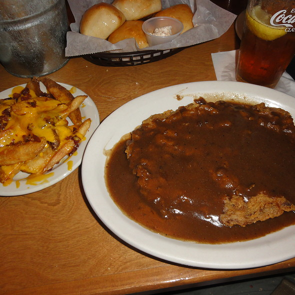 Country fried steak and fries @ Texas Roadhouse