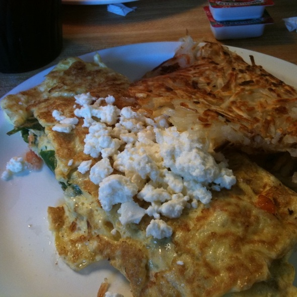 Greek Omelette With Baby Spinach @ Grumpy's Restaurant