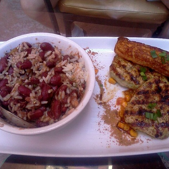 Red Beans And Rice With Pork Chops  And A Corn Cake - Springs Orleans, Colorado Springs, CO