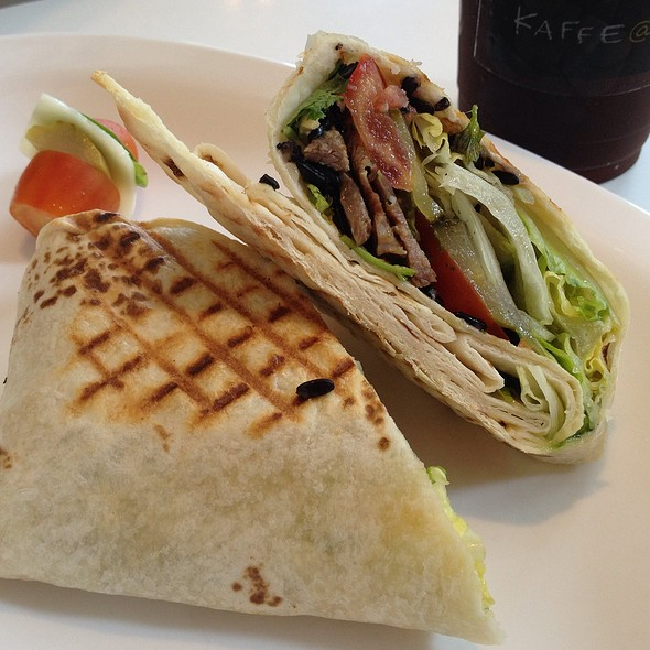 Beef And Purple Rice Wrapanini