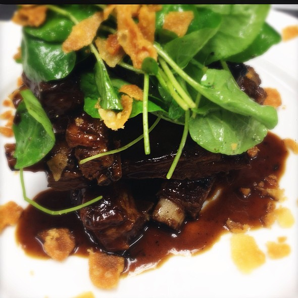 "Our Market ""Salad"" Today...Tamarind Glazed Lamb Ribs With Lime-Rice Wine Vinaigrette And Crushed Wontons! @ Ste. Marie"
