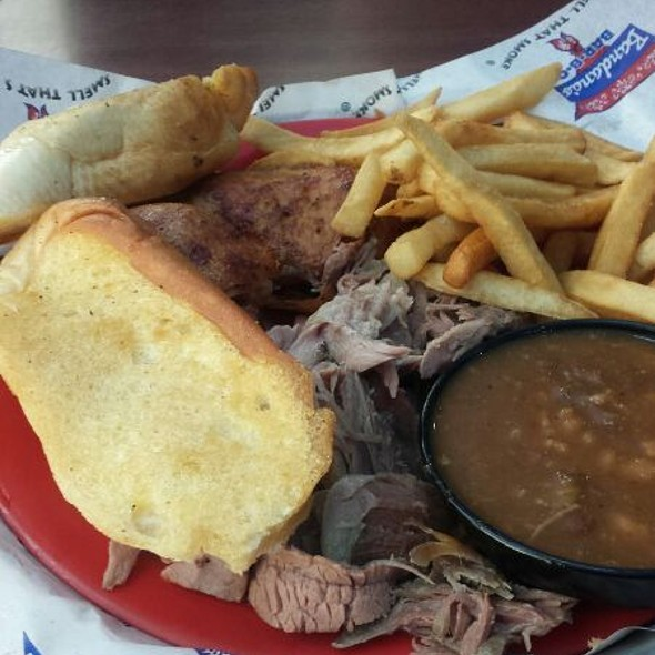 Combination Plate @ Bandana's BBQ Collinsville