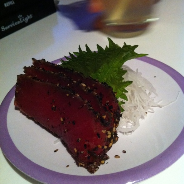 Peppered Tuna Sashimi