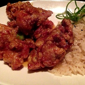 Henrys crispy orange glazed chicken