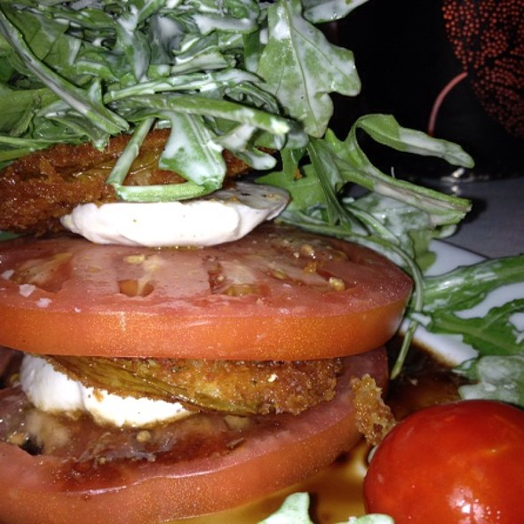 Fried Green Tomato Caprese Salad - Eurasia Cafe & Wine Bar - Virginia Beach, Virginia Beach, VA