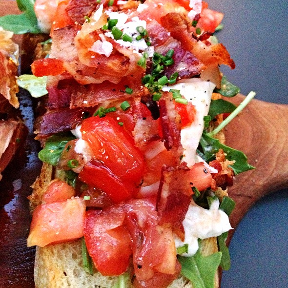 Burrata, Bacon, and Tomato Bruschetta