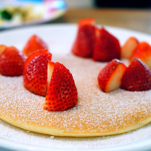 Buttermilk Pancakes With Strawberries at Canopy Garden Dining u0026 Bar & Canopy Garden Dining u0026 Bar Menu - Foodspotting